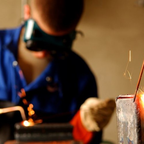 image of an apprentice welder