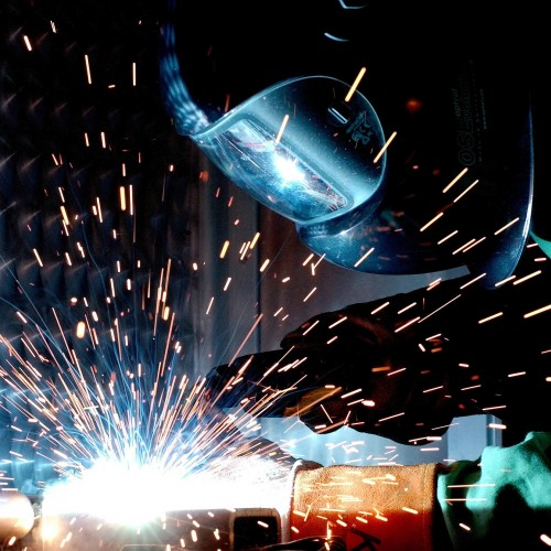 image of welding sparks